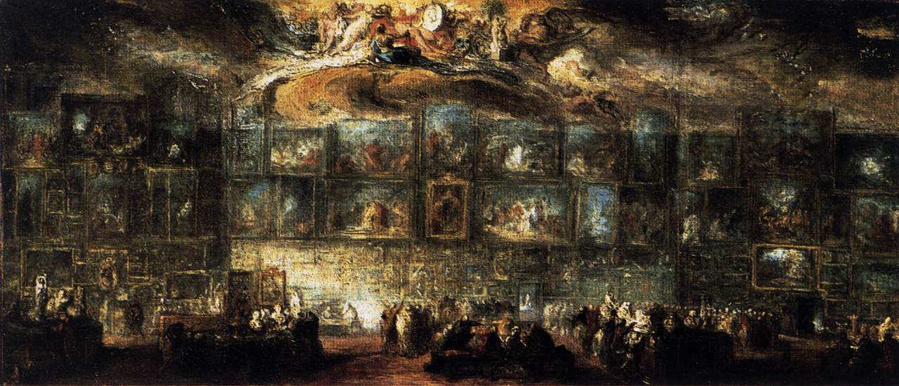 The salon of 1779 by saint aubin gabriel de for Salon du louvres