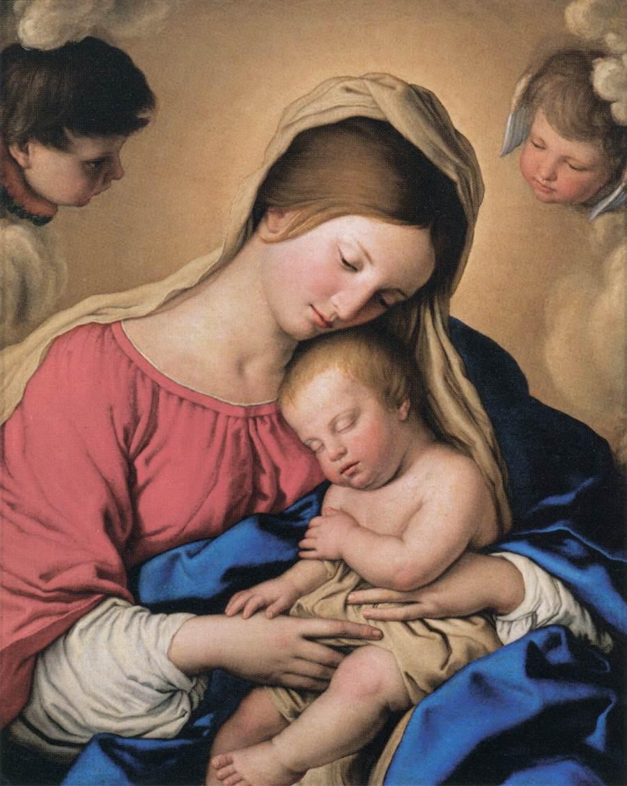 Sassoferrato, Le sommeil de l'Enfant Jésus