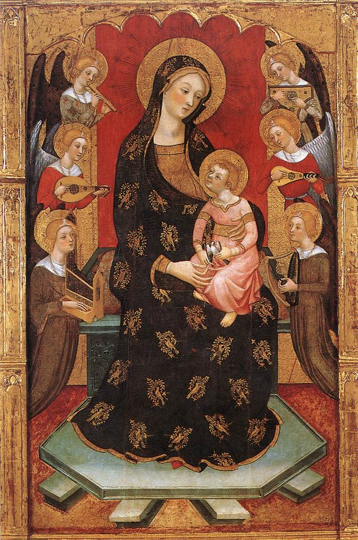 Image of madonna and child with Angels by Pedro Serra