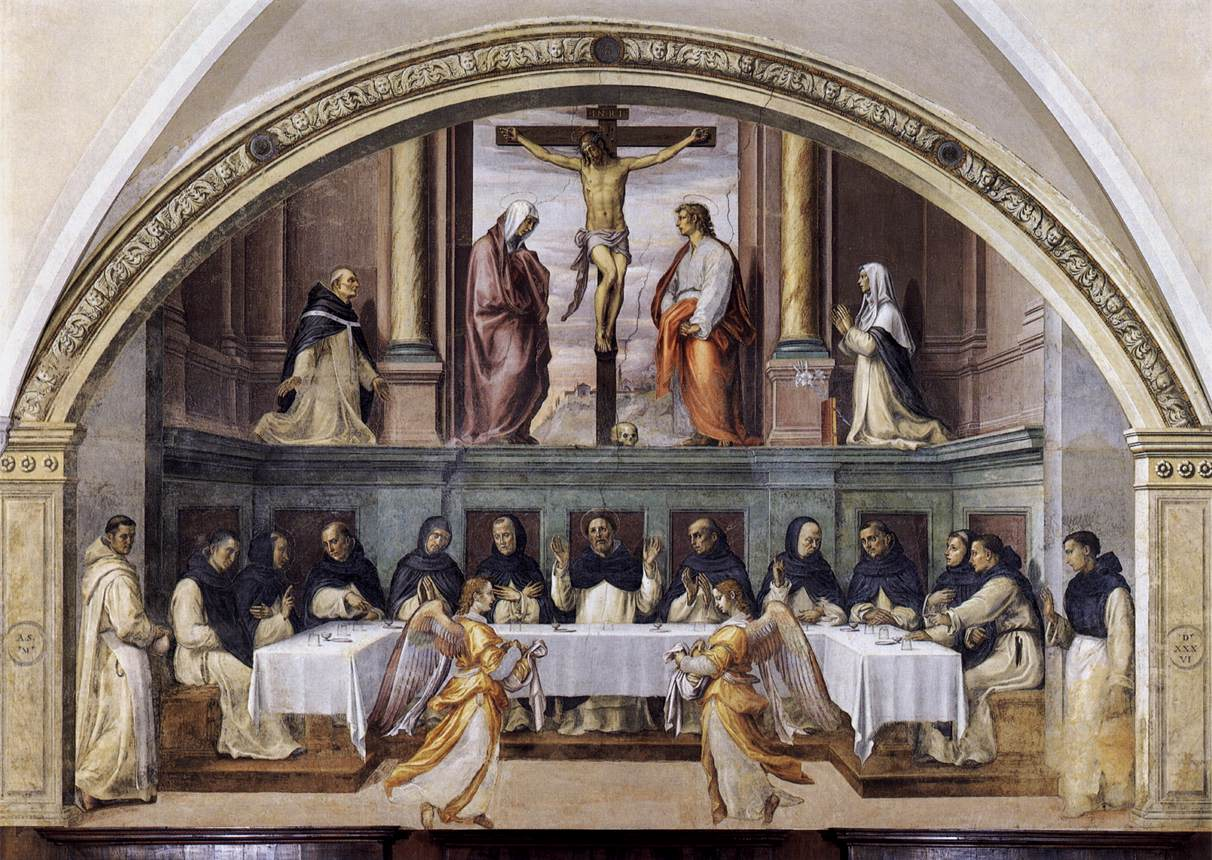 St dominic and his friars fed by angels by sogliani for Loaves and fishes san jose