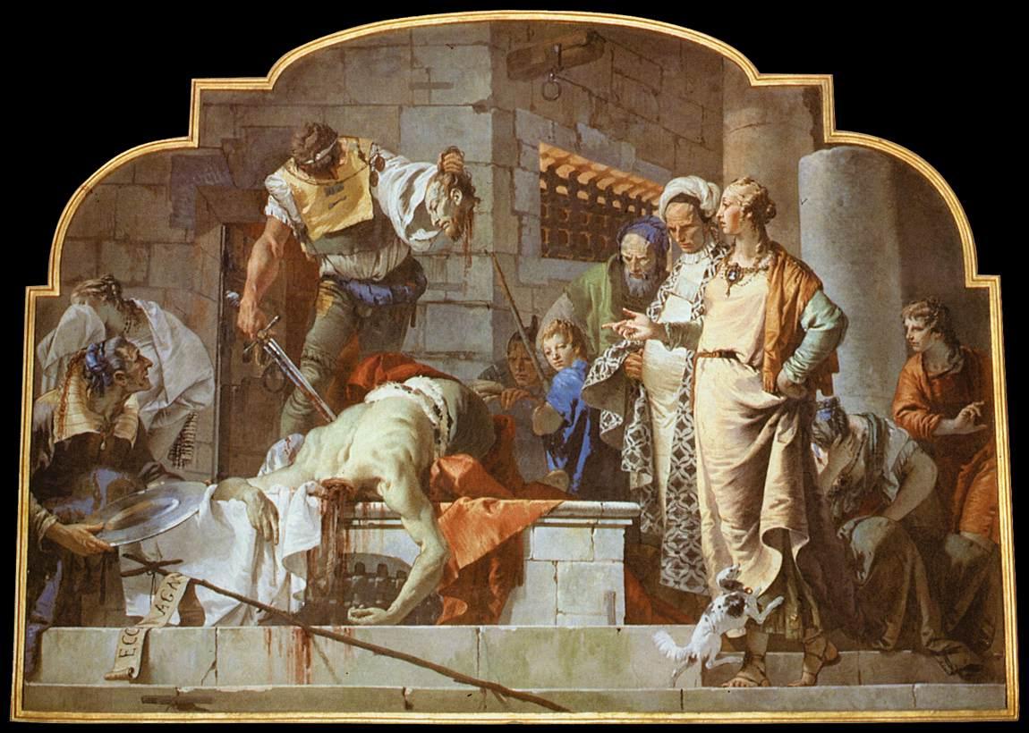 Tiepolo: Martirio di San Giovanni Battista  dans immagini sacre 05berga2