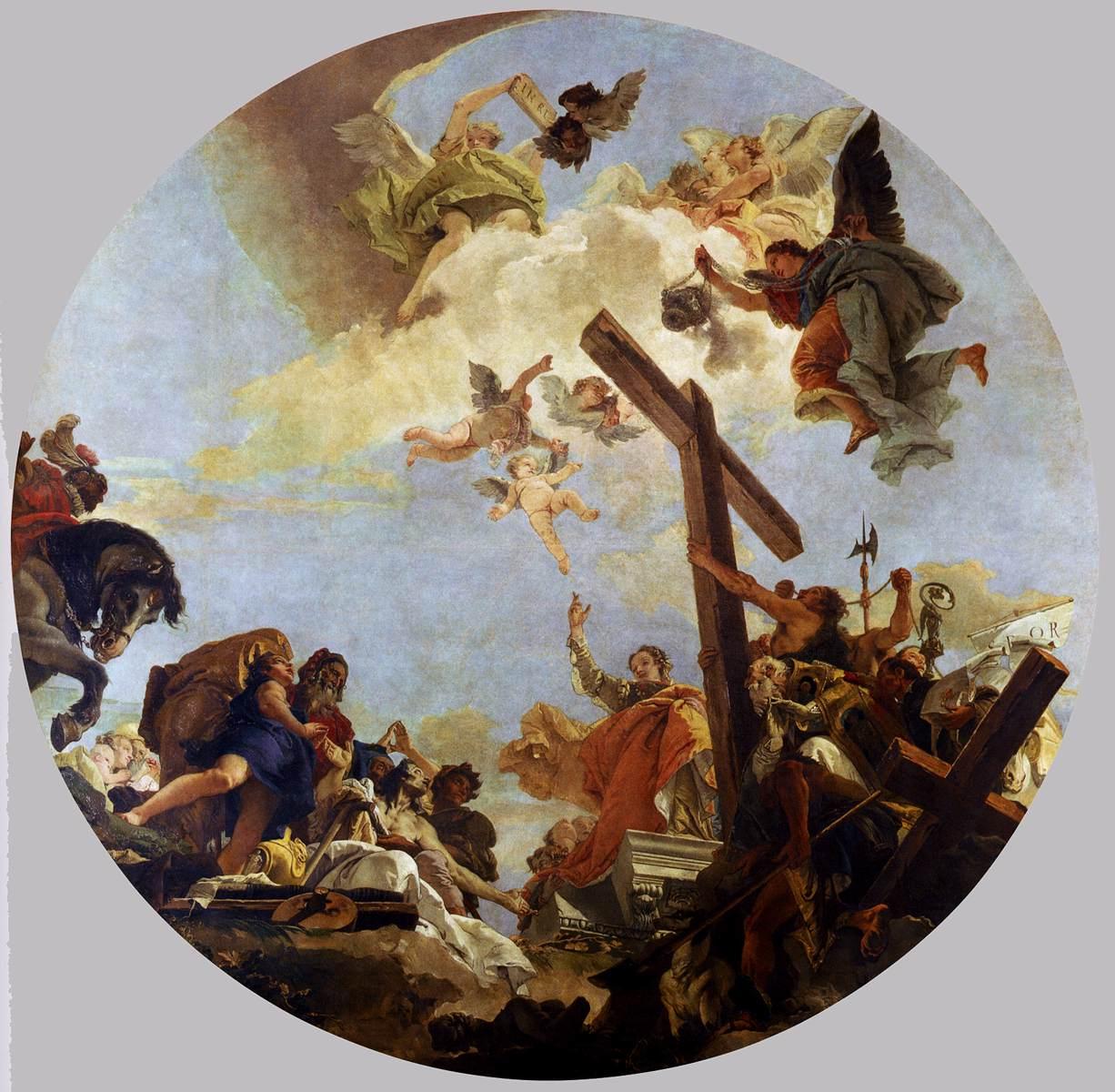 Discovery Of The True Cross By Tiepolo Giovanni Battista