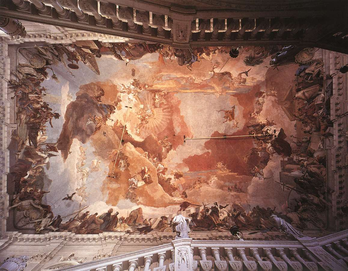Frescoes In The Wrzburg Residenz 1751 53