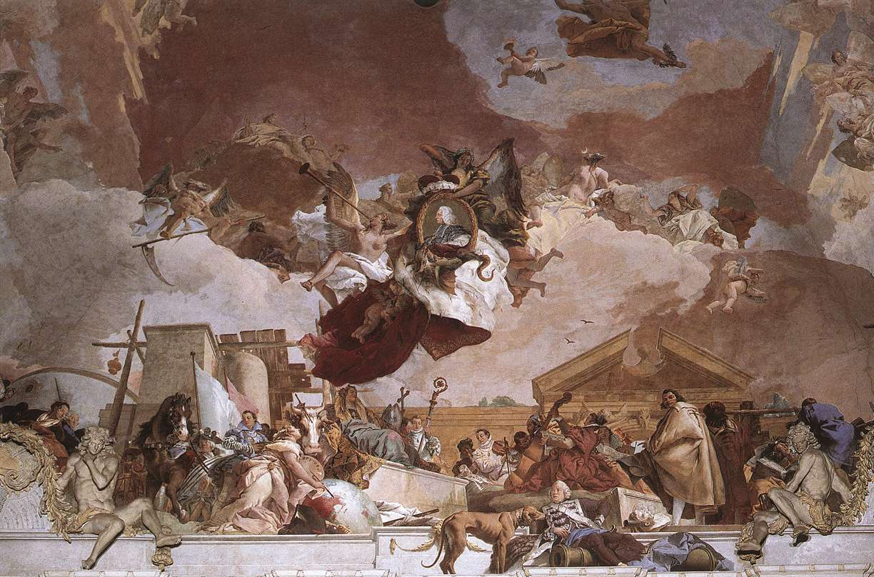 Frescoes in the wrzburg residenz 1751 53 for The giovanni