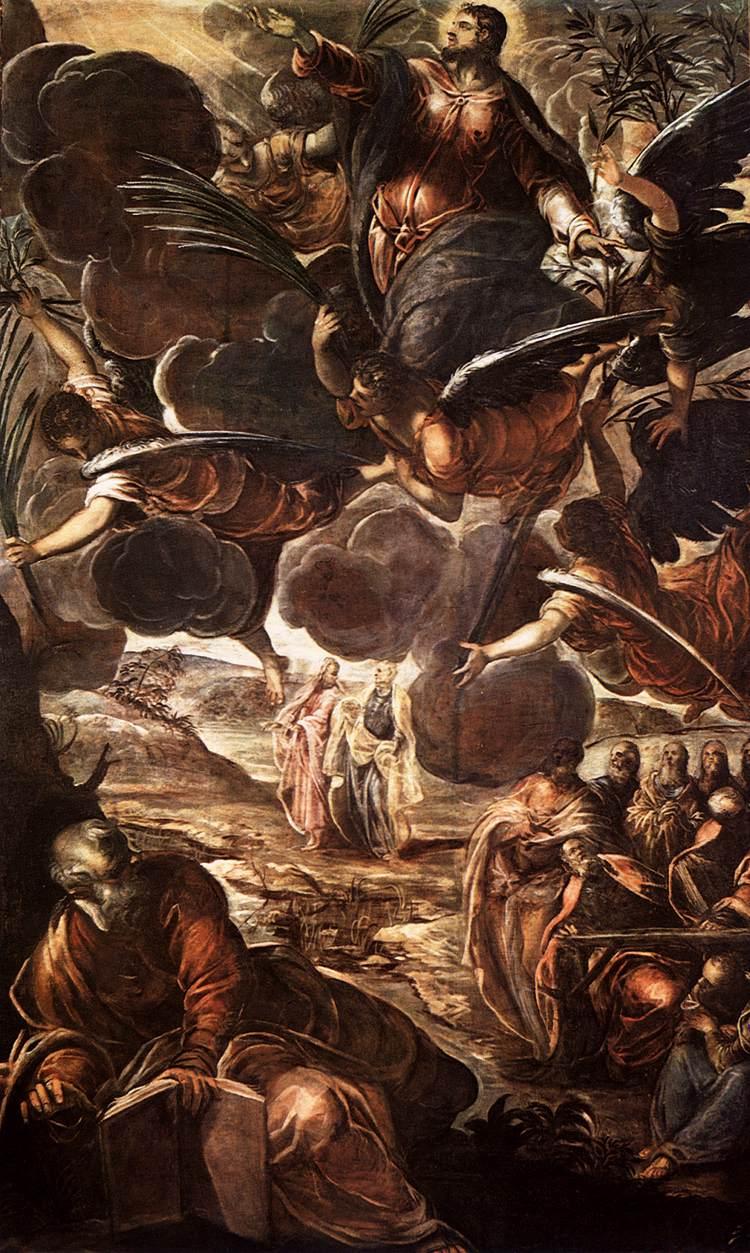 Jacopo Tintoretto (1518-94): Kristi himmelfart (1579-81), Scuola Grande di San Rocco, Venezia
