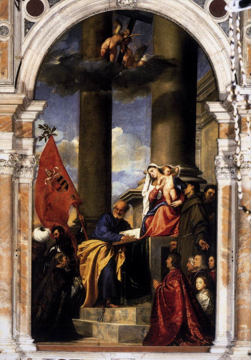 Madonna with Saints and Members of the Pesaro Family by