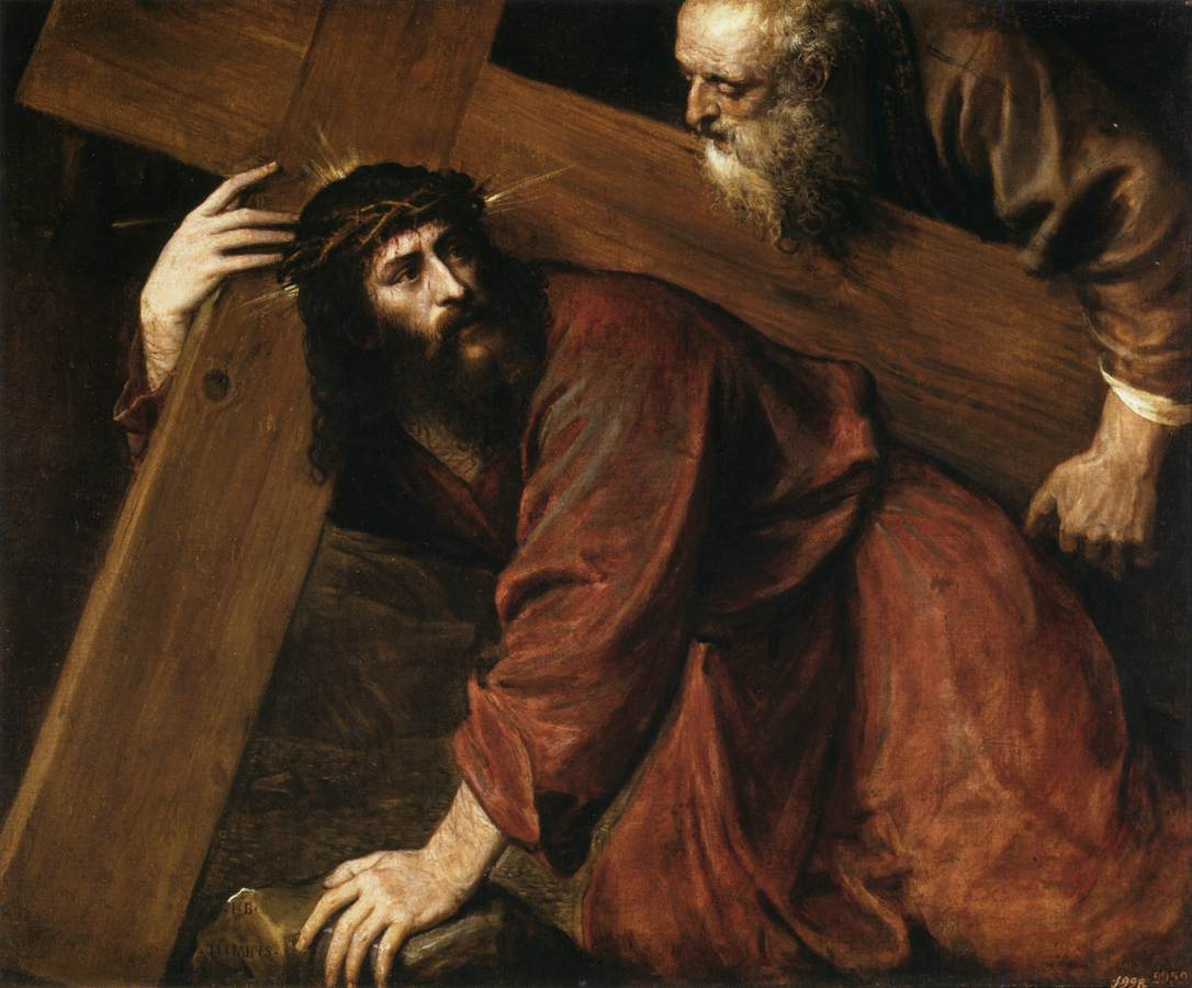 Jesus Carrying The Cross Painting Christ Carrying the Cr...