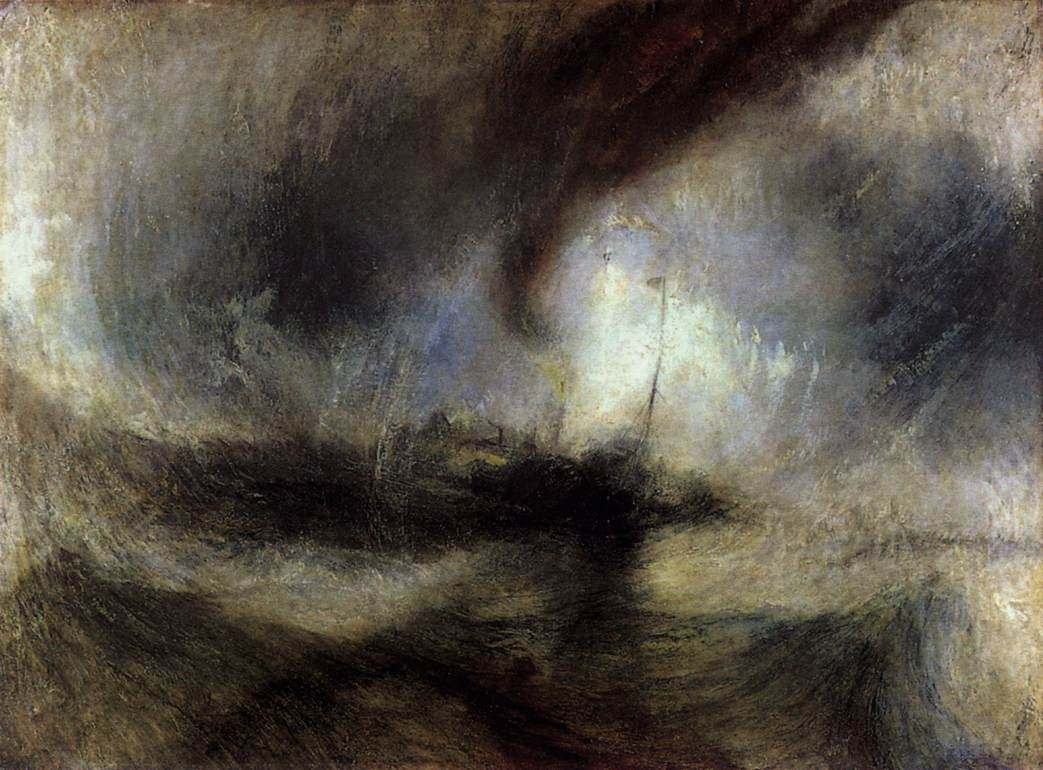 Snow Storm: Steam-Boat off a Harbour's Mouth, by J.M.W. Turner