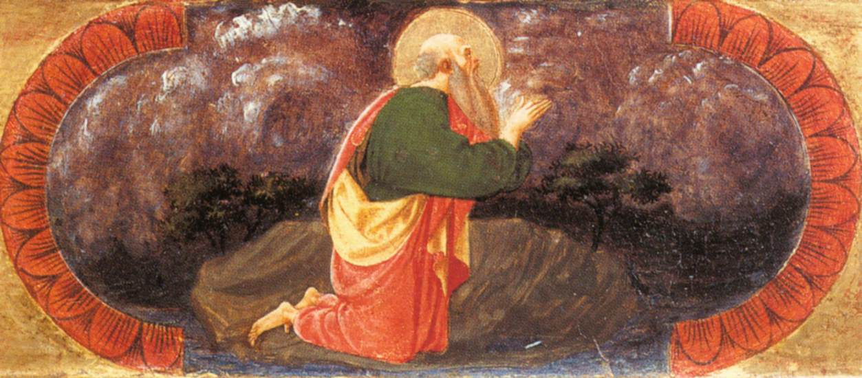 St John on Patmos (Quarate predella) by UCCELLO, Paolo