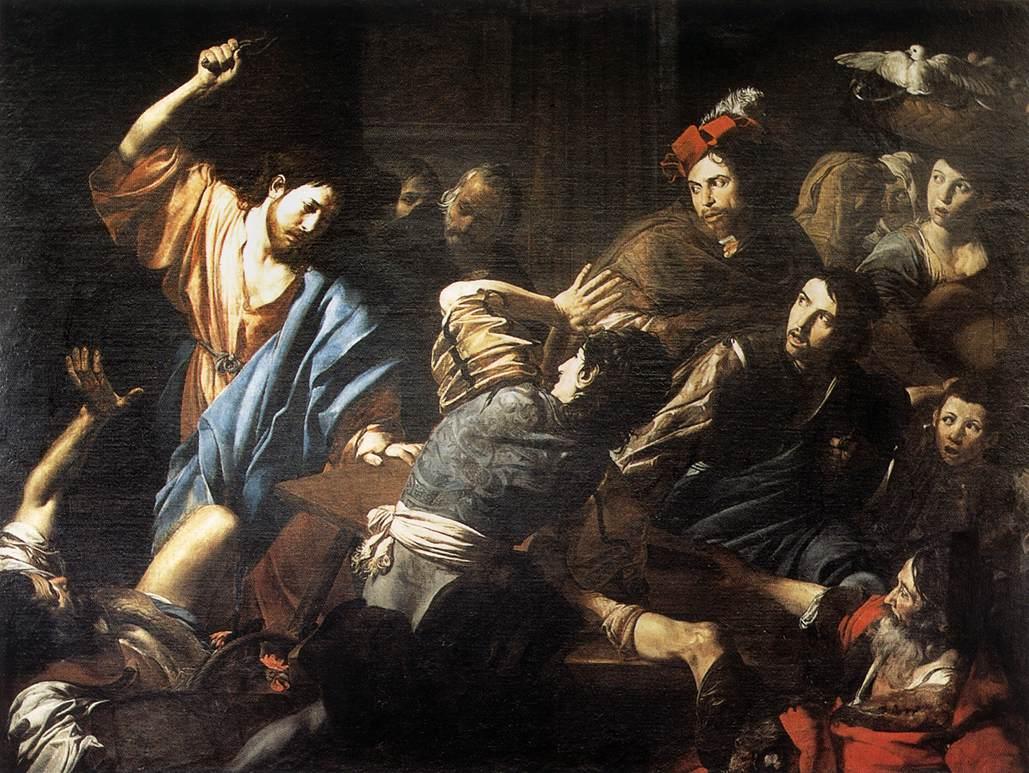 boosheid, valentin de boulogne, gastendienst, Jezus