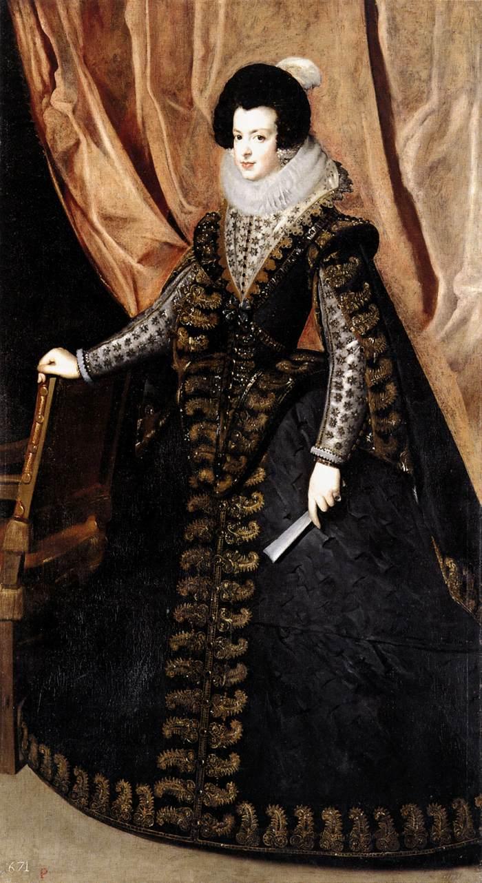 Philip Black King Bedroom Set: Queen Isabel, Standing By VELÁZQUEZ, Diego Rodriguez De
