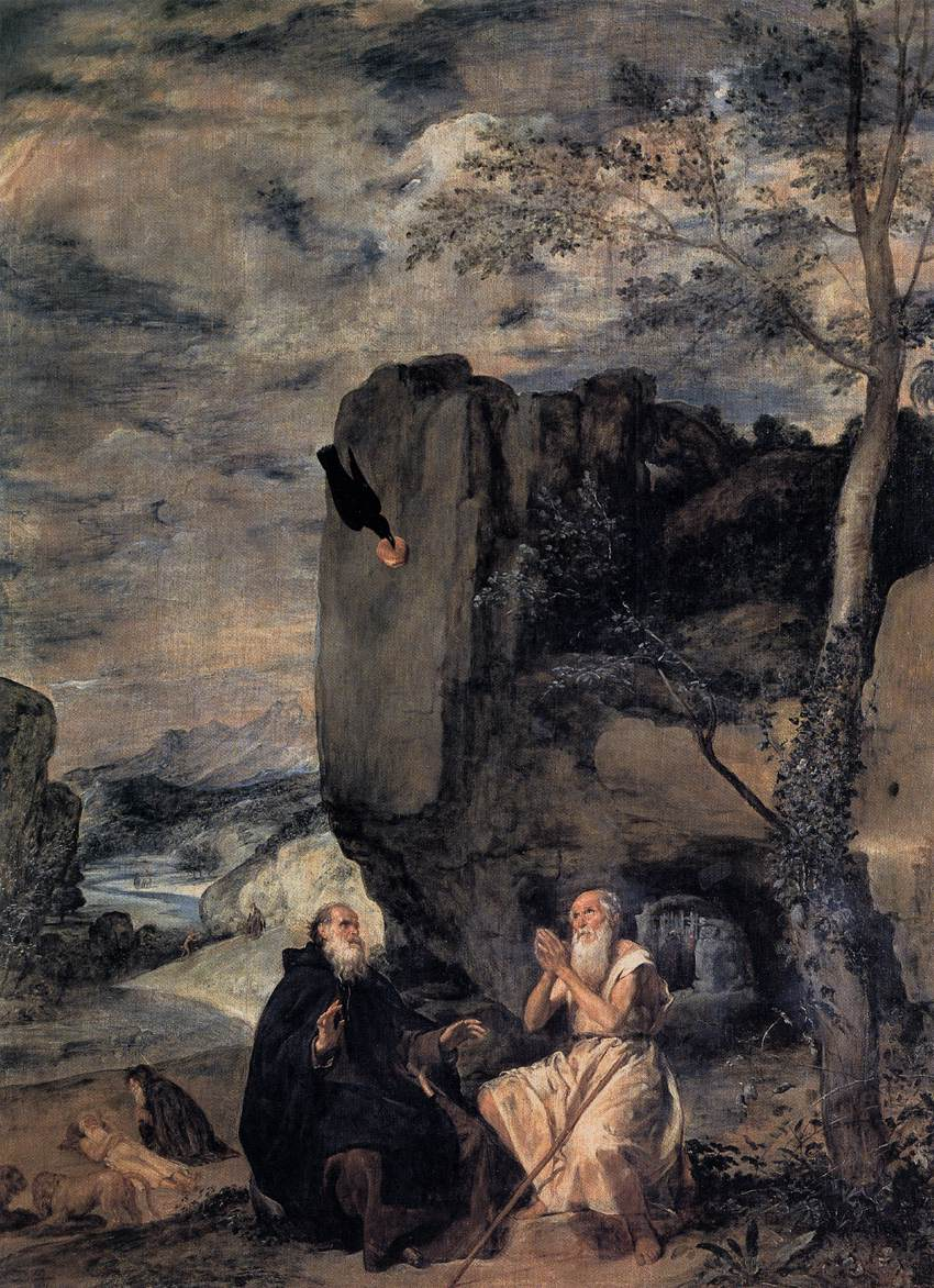 The Hermit Tarot Card Meaning In Readings Isolation: St Anthony Abbot And St Paul The Hermit By VELÁZQUEZ
