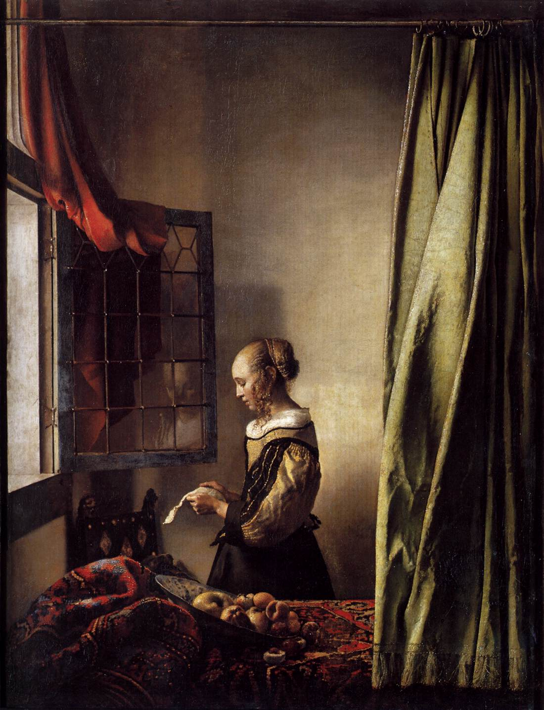 Girl Reading a Letter at an Open Window by VERMEER, Johannes