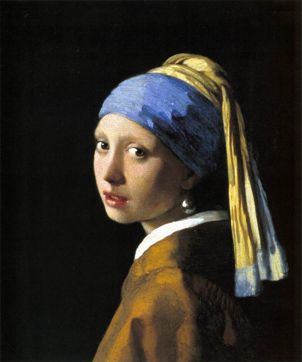 Girl with a Pearl Earring by VERMEER, Johannes A Girl With A Pearl Earring