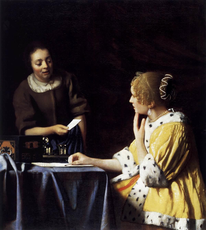 Vermeer, La maîtresse et la servante, 1665-70, New York