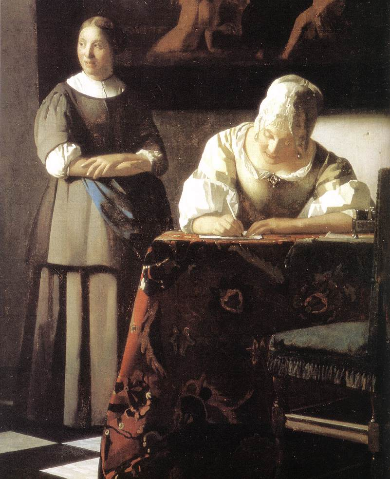 "Critique of ""A Lady Writing"" by Johannes Vermeer"