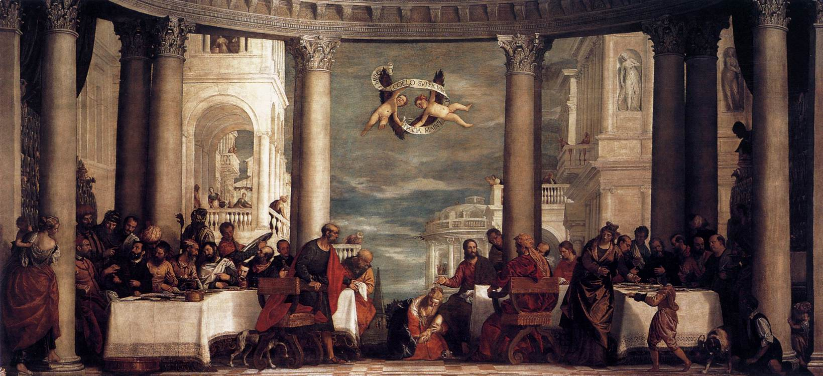 a Last Supper but Veronese