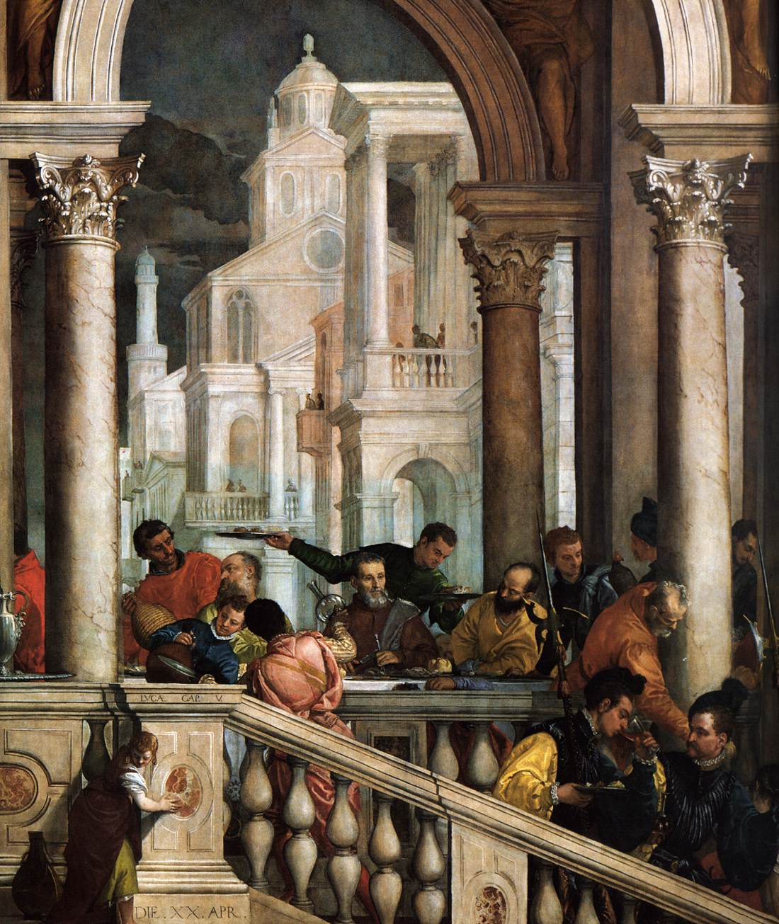 Feast in the House of Levi (detail) by VERONESE, Paolo