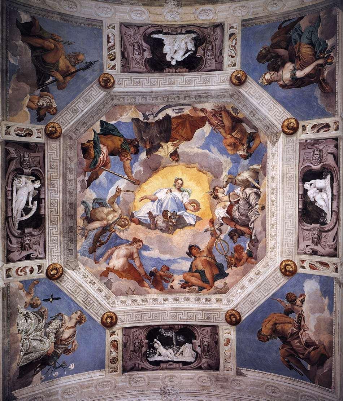 Frescoes In The Villa Barbaro Maser 1560 61