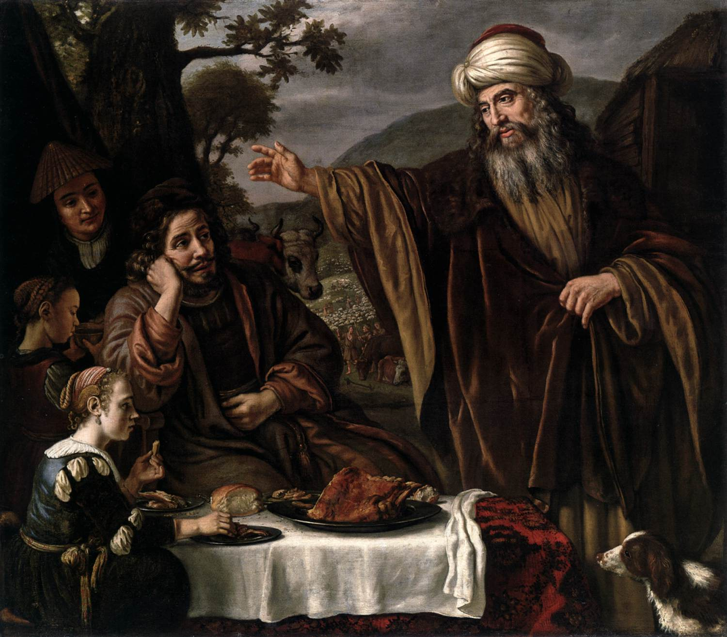 Abraham's Parting from the Family of Lot dans immagini sacre abraham