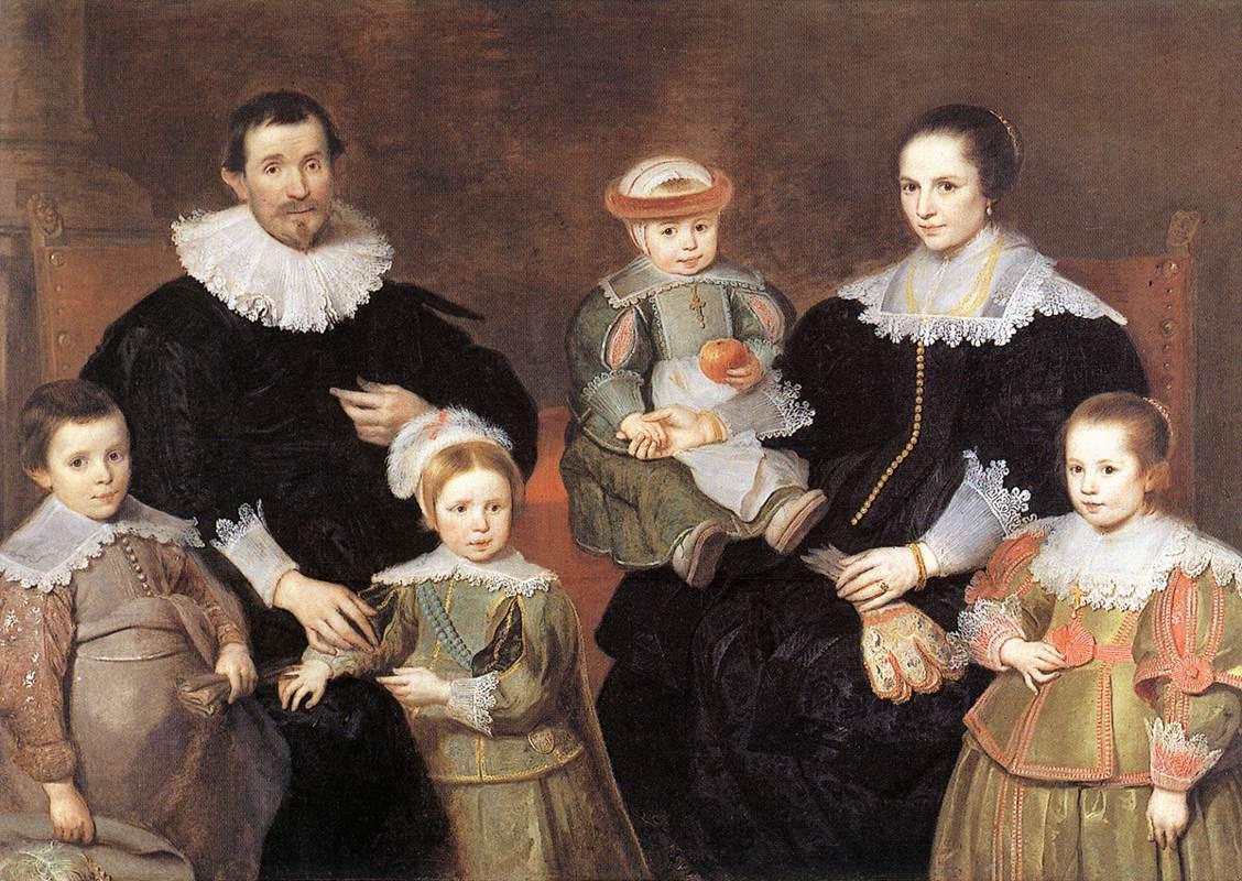 Репродукция 165458 The Family of the Artist - Vos, Cornelis de купить репродукцию картин, постер.