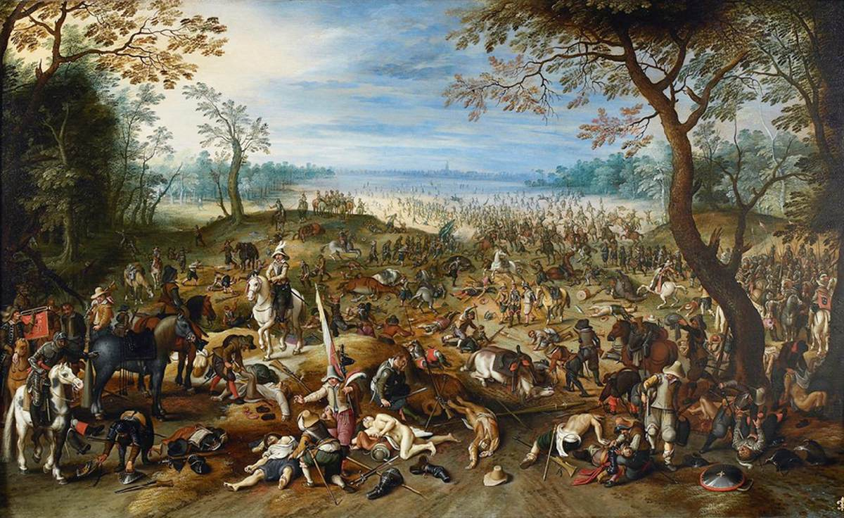 how to write a war scene paintings