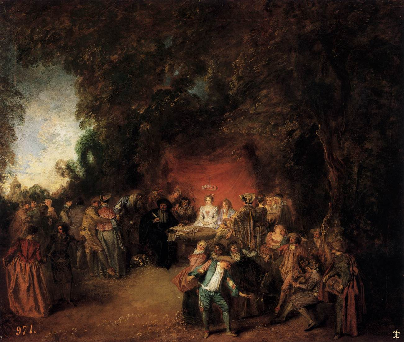 The Marriage Contract By Watteau Jean Antoine