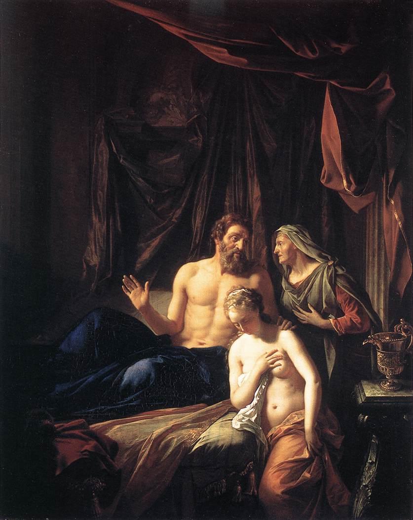 Sarah Presenting Hagar to Abraham (Adriae van der Werff, 1696)