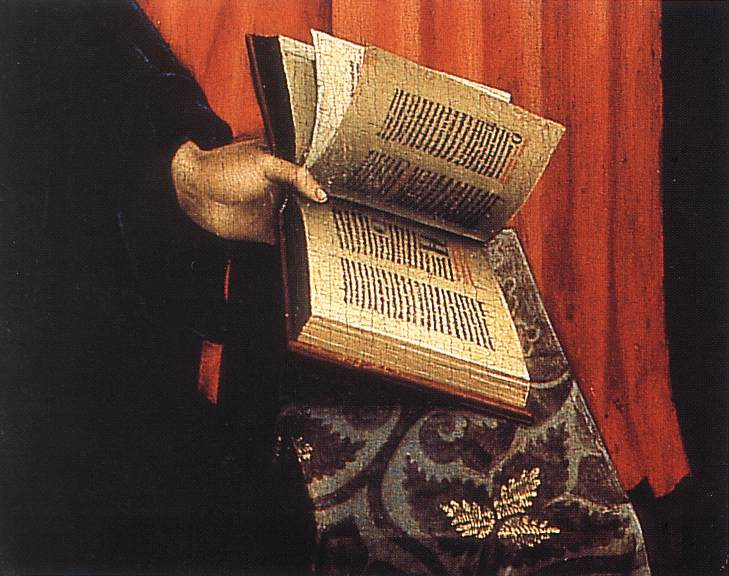 WEYDEN, Rogier van der Annunciation Triptych (central panel, detail) c. 1440