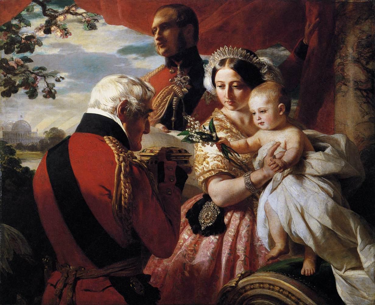 QUEEN VICTORIA /& PRINCE ALBERT PORTRAIT PAINTING BRITISH ART REAL CANVAS PRINT