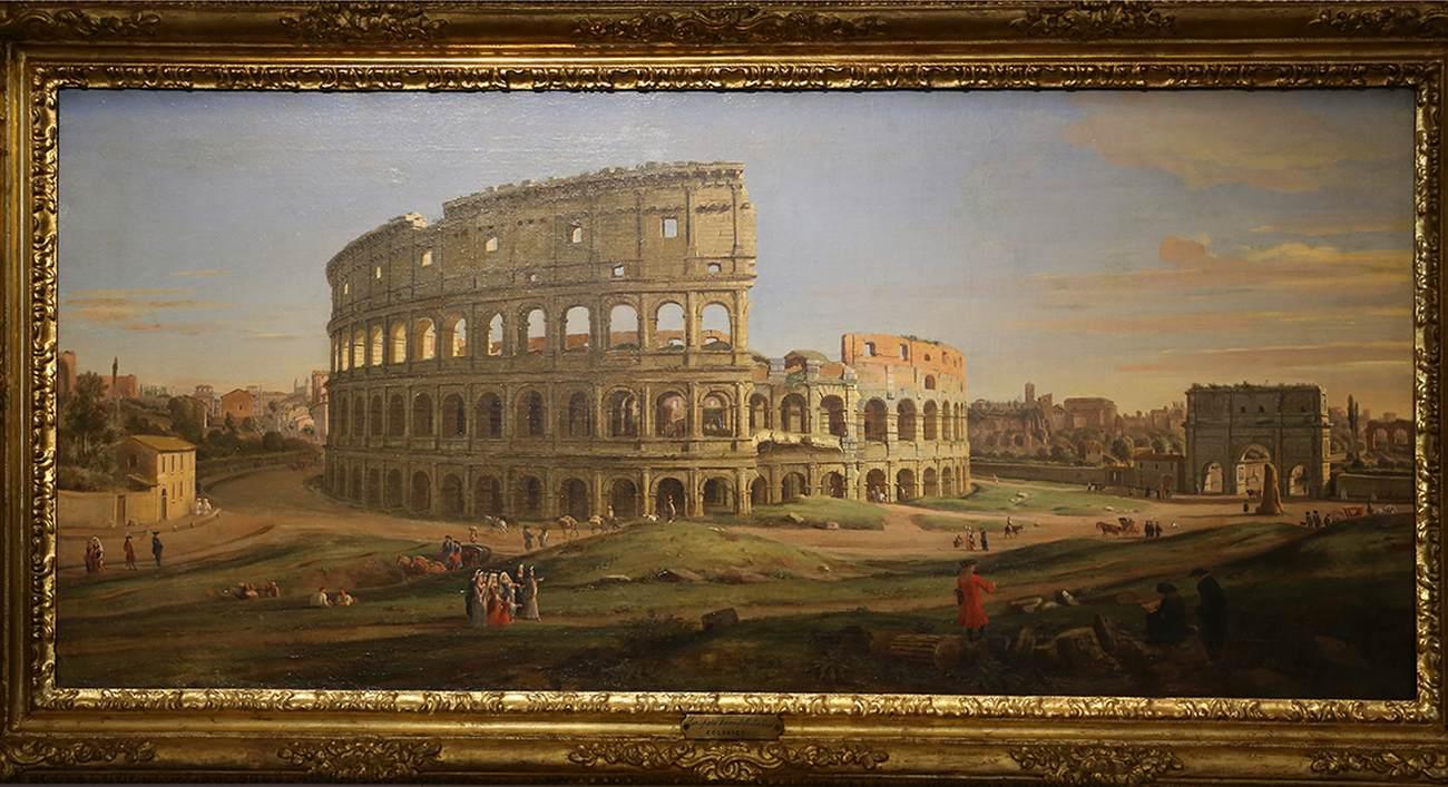 Art Oil Netherlands Caspar Andriaans van Wittel Rome A View of The Colosseum