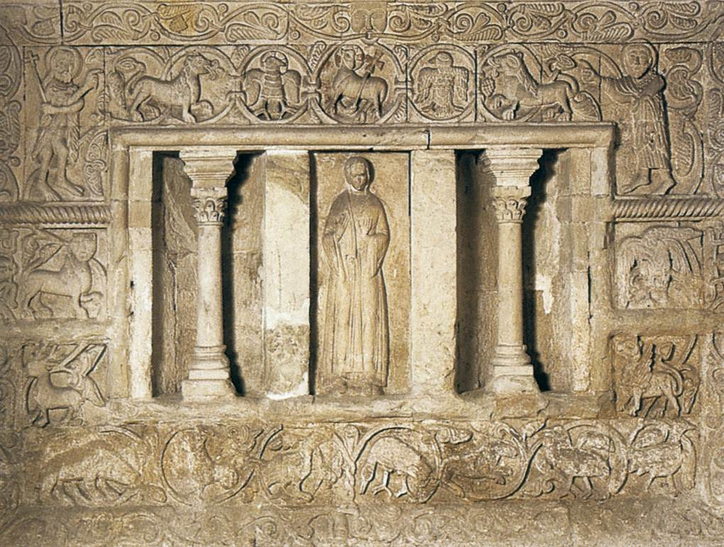 burial chamber western outer wall by medieval sculptor german