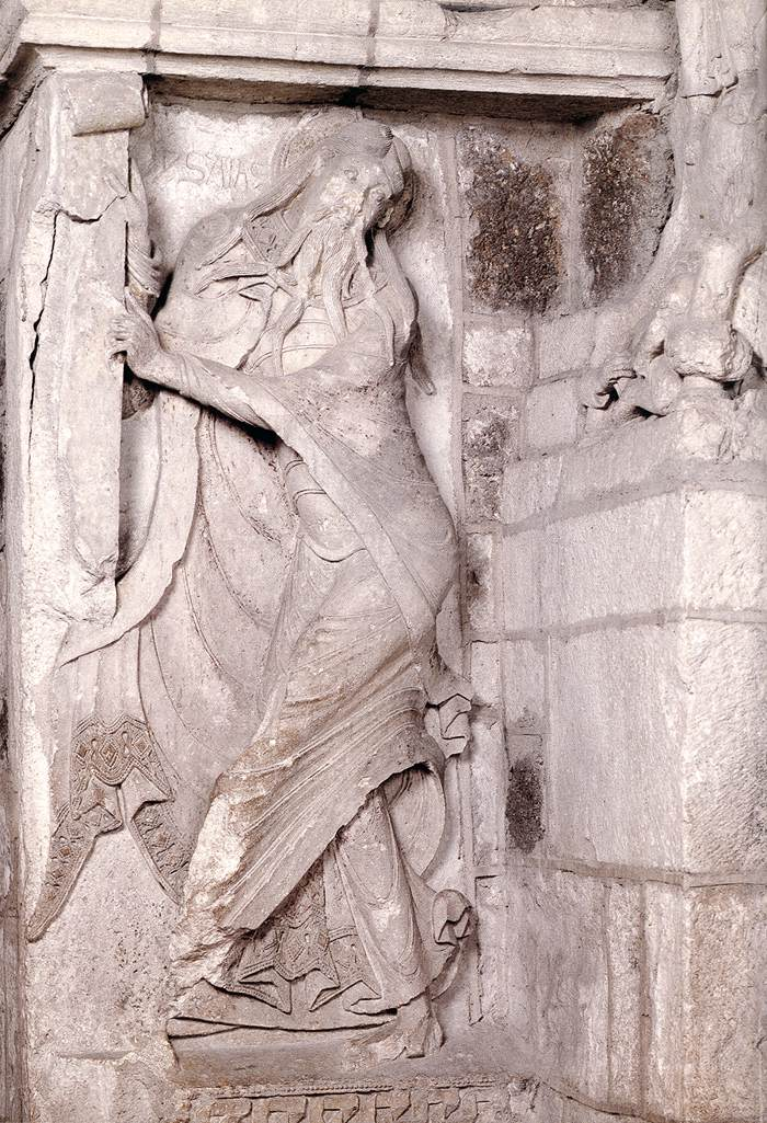 The Prophet Isaiah By Medieval Sculptor French