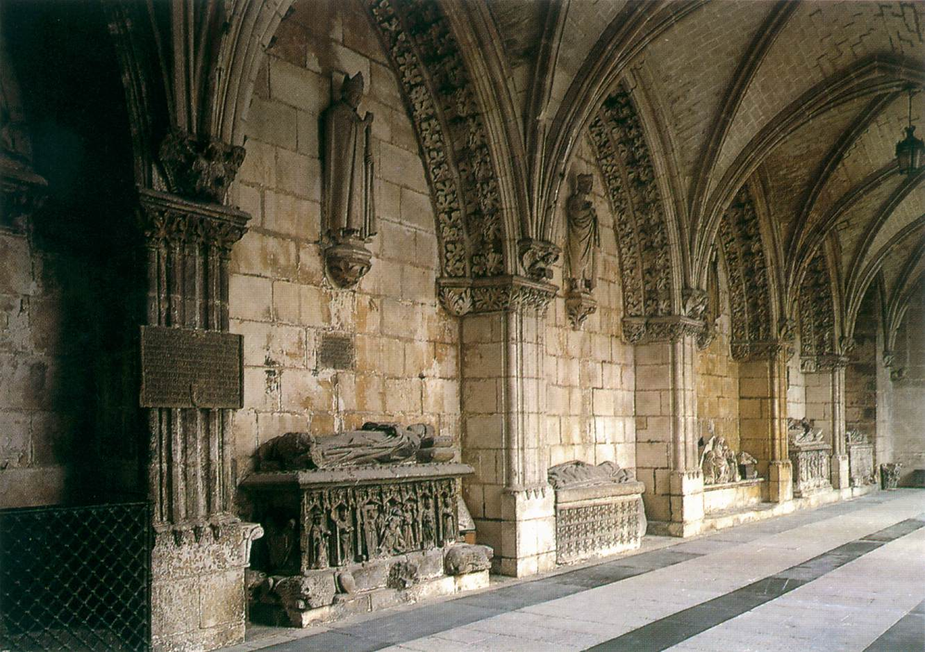 wall of the cloister by medieval sculptor spanish