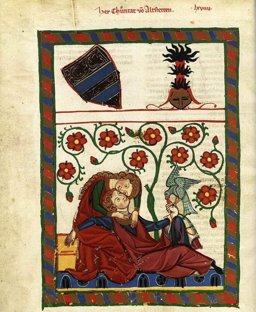 Druck aus Codex Manesse 14. Jh. 201 Von Wildonie