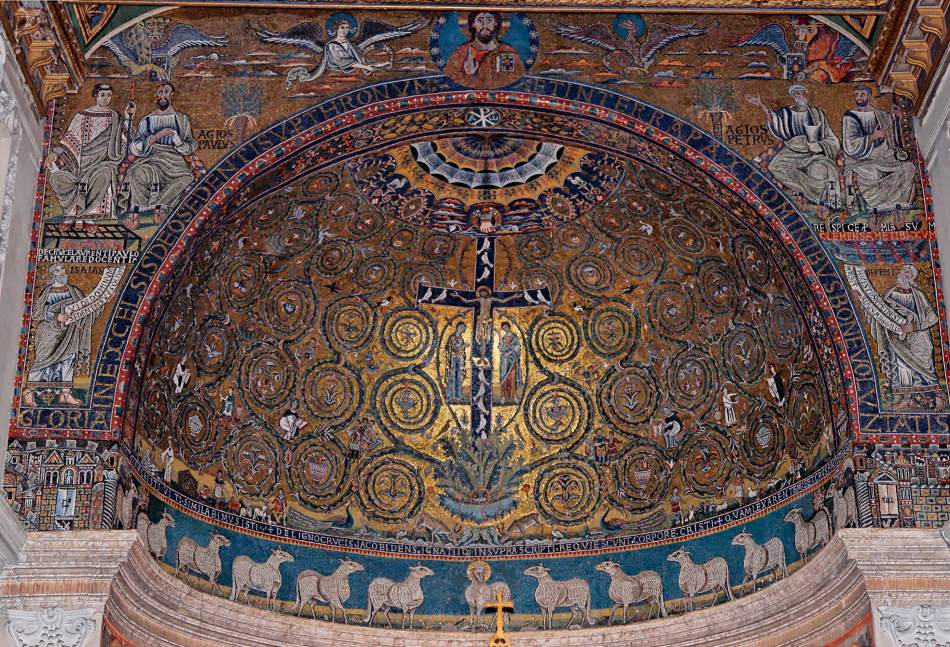 Mosaics In San Clemente Rome 1130s