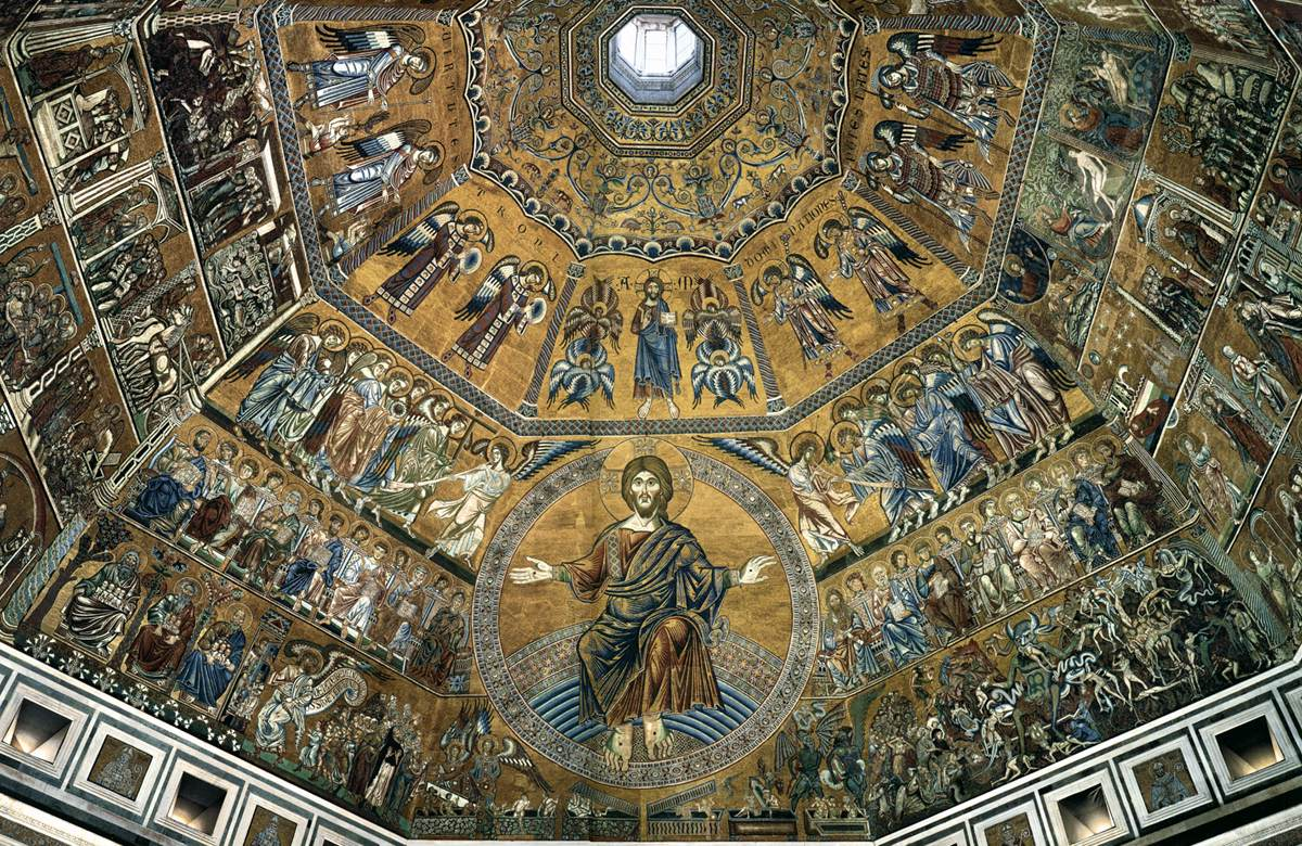 The features of the baptistery of the florence cathedral