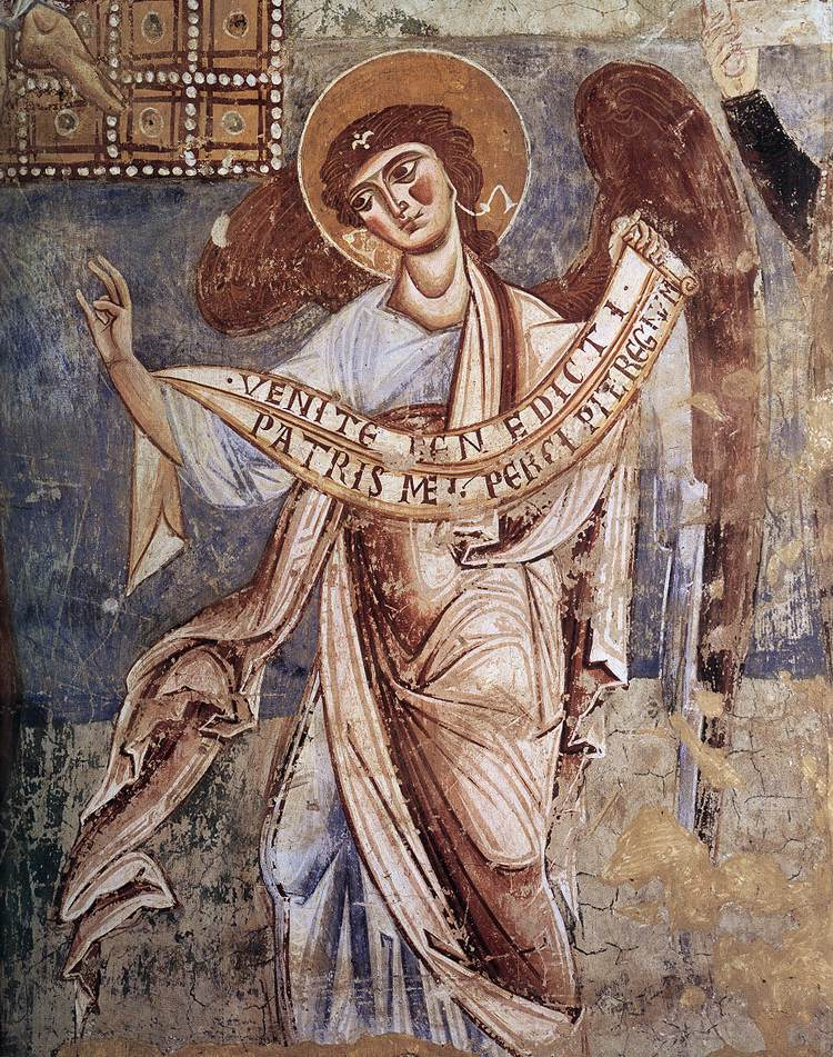 Angel Of The Last Judgment By Romanesque Painter Italian