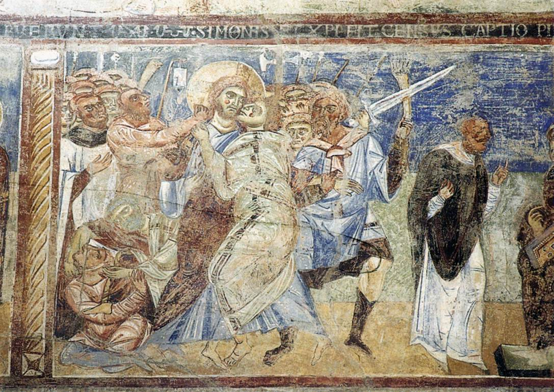 Romanesque mural paintings italian mainly 11th century for Egyptian fresco mural painting