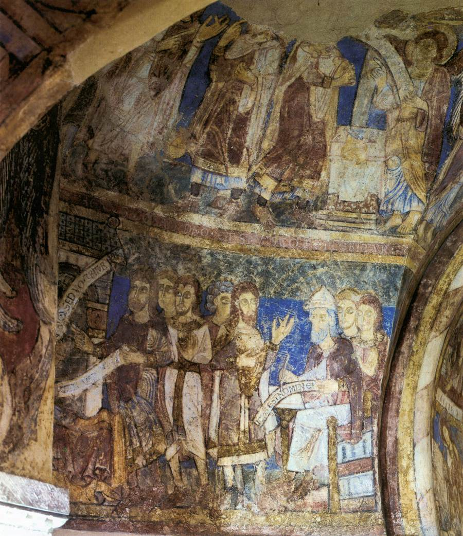 Romanesque mural paintings second half of the 12th century for Egyptian fresco mural painting