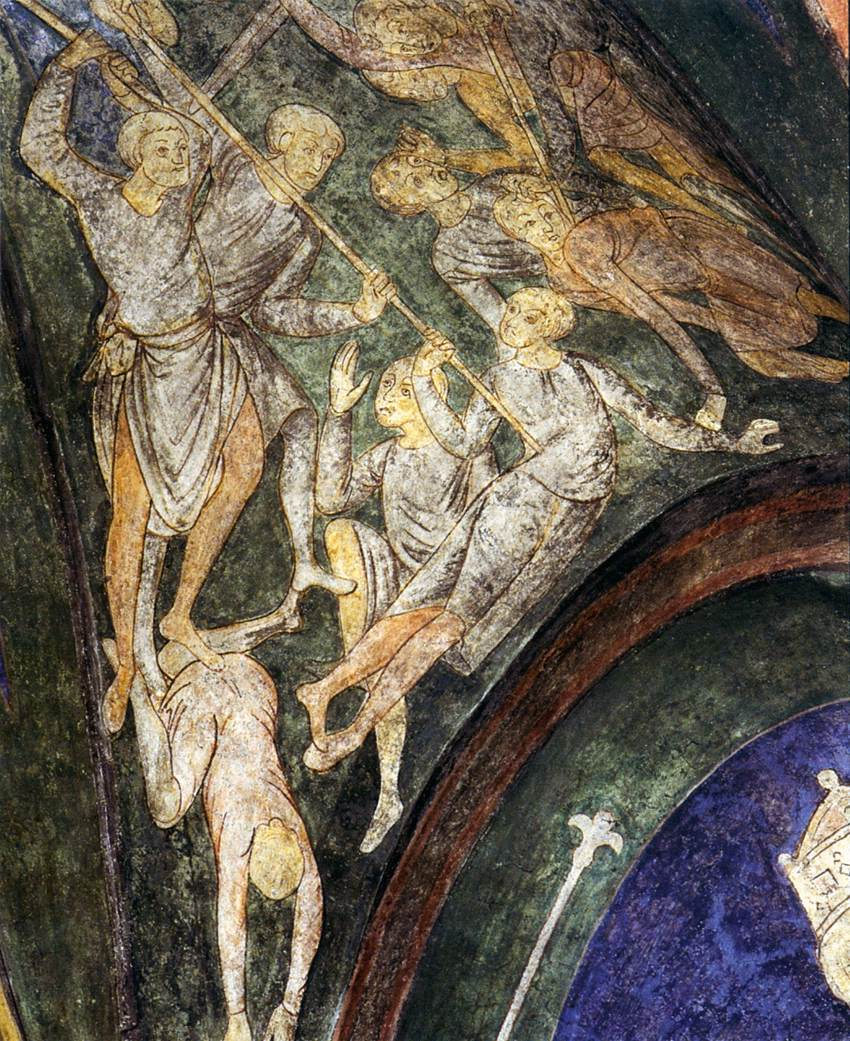 Fresco 12th century unknown painters christ in majesty for Clarks mural fresco