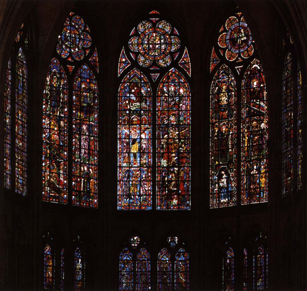 Romanesque And Gothic Stained Gl Windows 13th Century