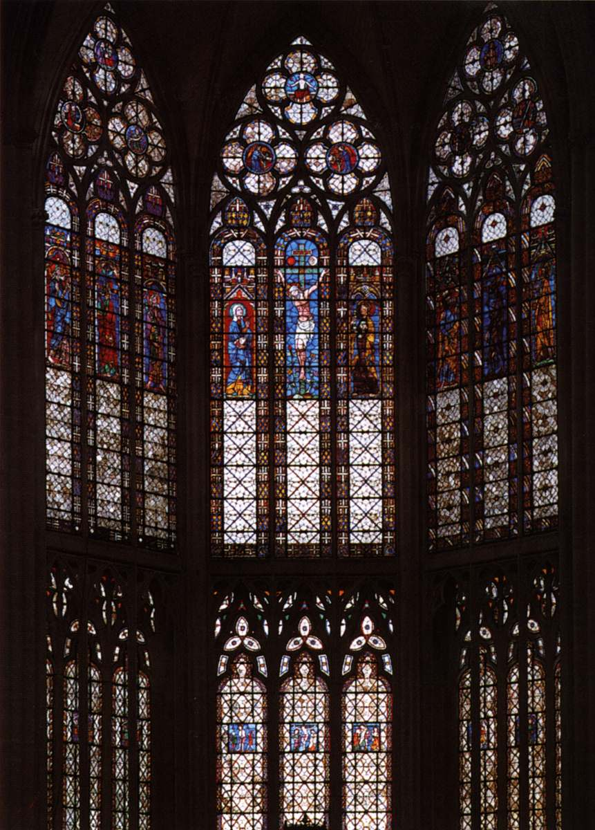 Romanesque and gothic stained glass windows 13th century for Glass windows