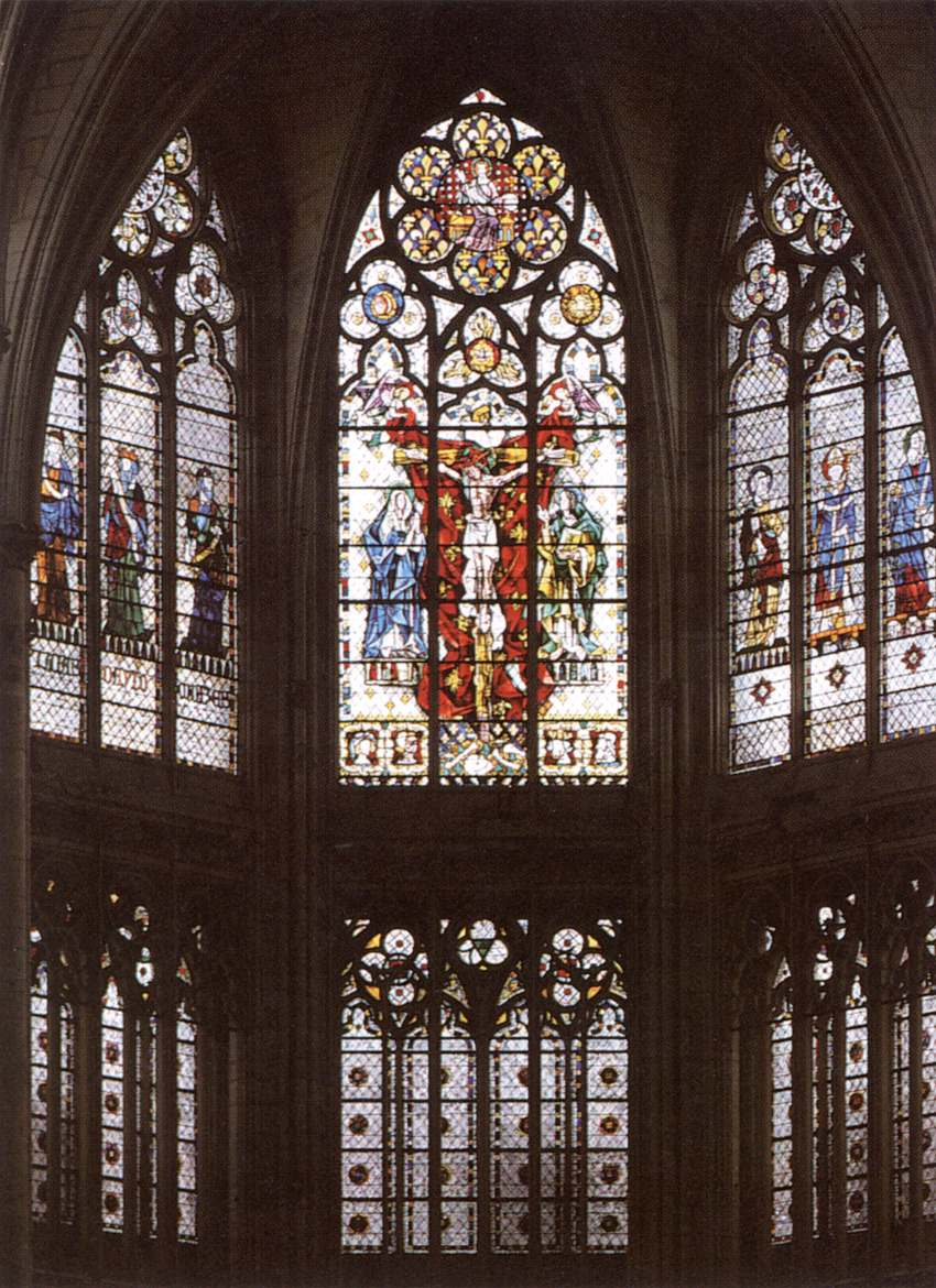 Gothic Stained Gl Windows 14th Century