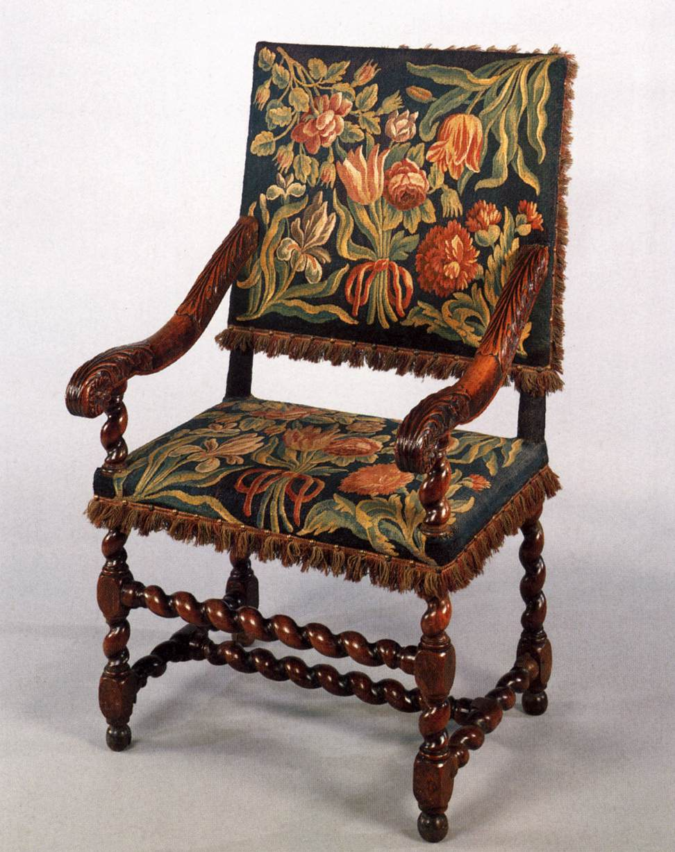Armchair Upholstered With Tapestry By Unknown Weaver Dutch