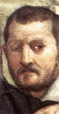 Portrait of Alessandro Allori by Bronzino (detail of the Martyrdom of St Lawrence)