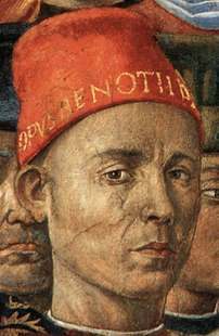 Self-portrait from the Procession of the Magi