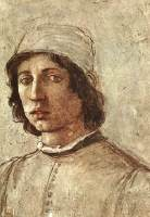 Self-portrait in the Uffizi