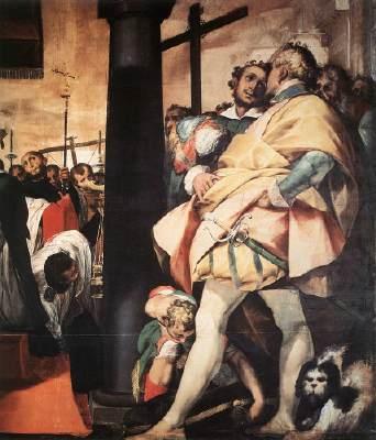 St Carlo Borromeo Erecting Crosses a the Gates of Milan (detail)