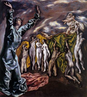 The opening of the fith seal by El Greco 1608-14